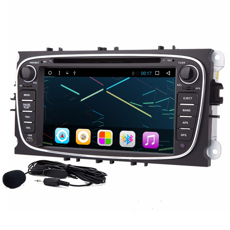 7 inch 1024*600Car DVD Player 2 din Radio DAB+ GPS Navigation For Ford Focus II Mondeo C Max S Max 2008 2009 2010 2011/Galaxy II