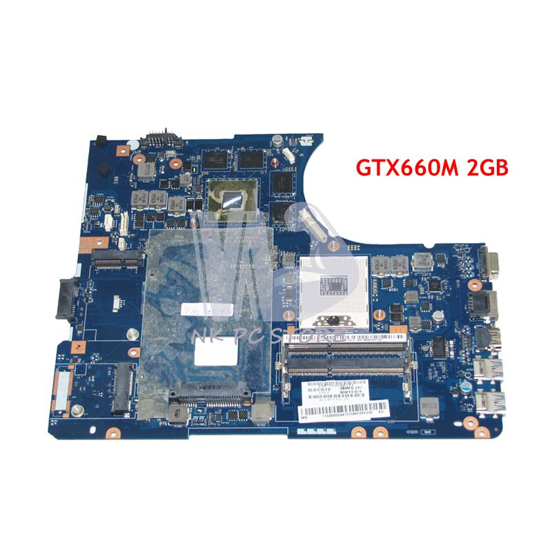 NOKOTION QIWY4 LA-8002P 11S900004 MAIN BOARD For Lenovo Y580 Laptop Motherboard HM76 DDR3 GTX660M 2GB Video card