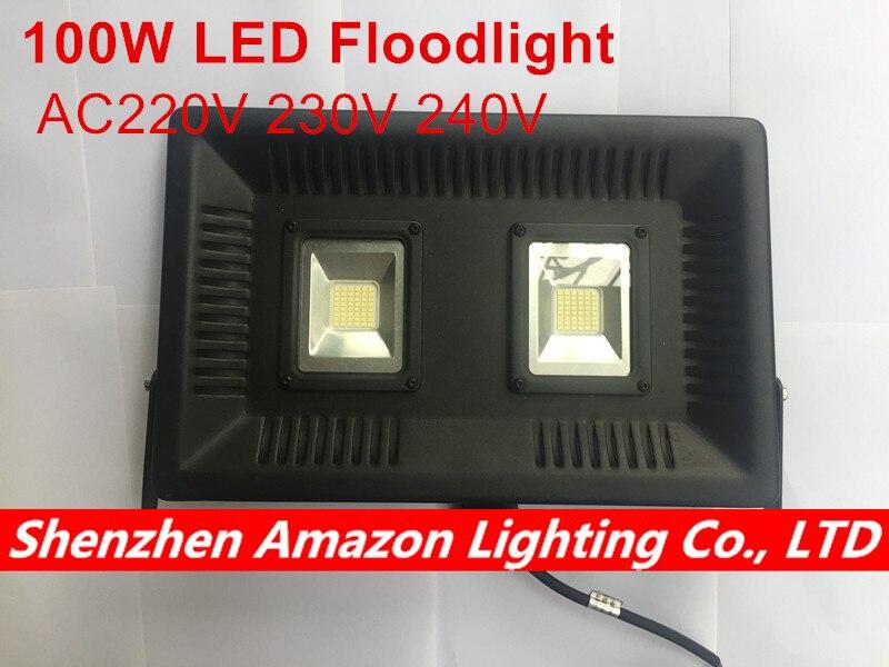 1 pièces nouveauté éclairage LED 100 W 220 V 230 V 240 V IP65 étanche Smart IC LED lumière d'inondation lampe murale extérieure projecteurs de jardin