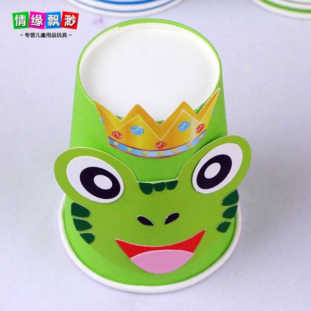 Online Shop 12 PCs Multi Color DIY Handmade Paper Cups Material Kit