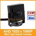 AHD Cámara de Tipo Mini HD 1920x1080 P 2.0MP 3.7mm Lente CCTV Cámara de Seguridad De Metal Cubierta