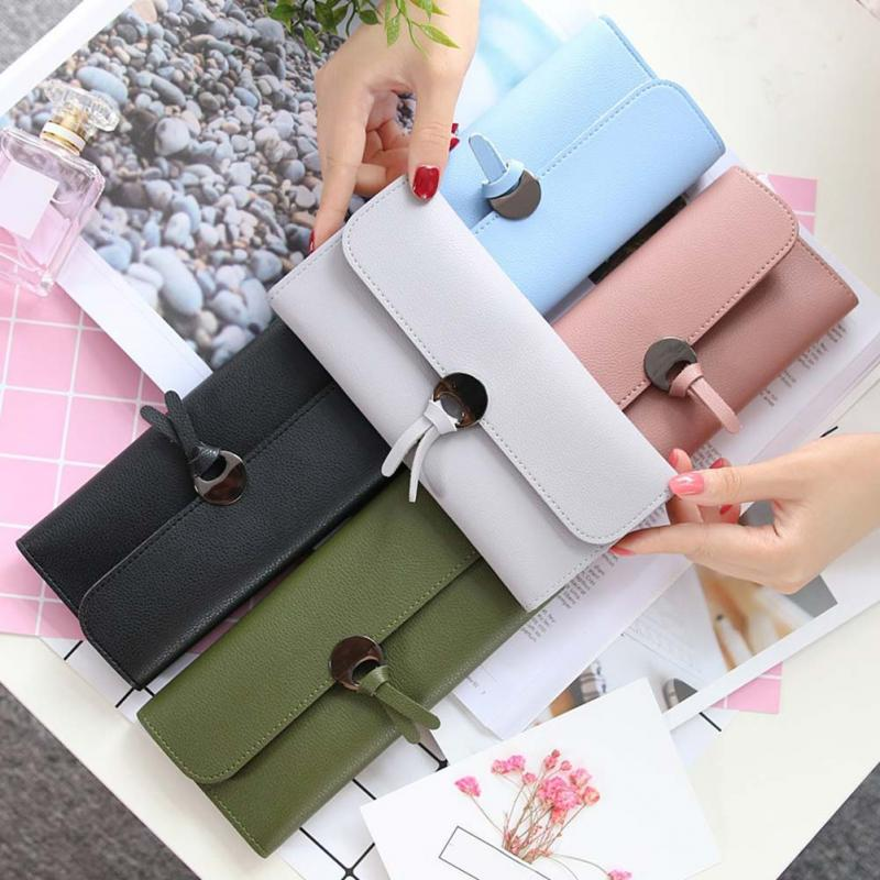 New Design PU Leather Wallets Women Luxury Brand Purses Woman Wallet Long Hasp Female Purse Card Holder Clutch Wallet купить в Москве 2019