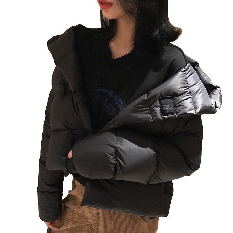Winter 90% White Duck   Down   Jacket Women   Down     Coat   Casual Short Hooded Outerwear Female Jacket 2019 Fashion Womens   Down   Jackets