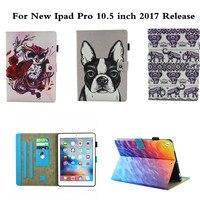 Lindo OWI Animal Print Cat Voltear PU Funda de piel Para Nueva iPad Pro 10.5 pulgadas 2017 Estilo Ultra Thin Soporte A Prueba de Golpes de Parachoques cubierta
