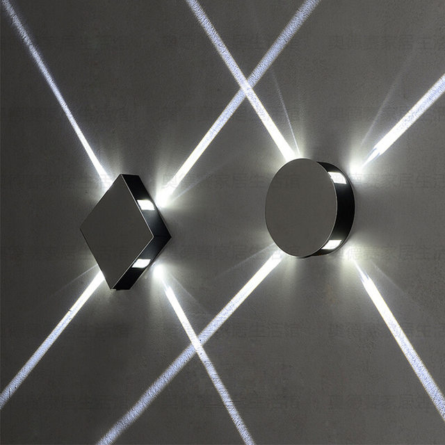 Online Shop SinFull Led KTV decorative wall lamps cross aluminum ...