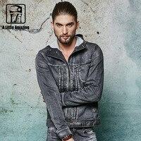 2016 Autum Winter New Design Denim Jacket Men Hoodies Washed Outdoor Jeans Jacket Korean Style With