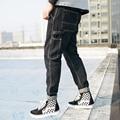 Men high street fashion hip hop jeans male Multi-pocket casual denim pants loose denim trousers spring new jeans pants K147