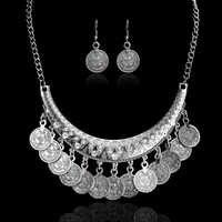 Venta caliente collar de Chokers Vintage bohemio de moda monedas étnicas talladas collares bonitos para mujeres joyería fina Colar
