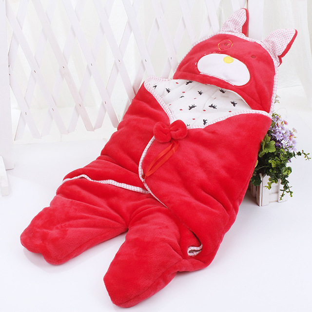 Soft Infant Baby Flannel Thickened Sleeping Bag Anti Kick Quilt Newborn Baby Sleeping Sack Split Type Baby Swaddle Wrap Bags