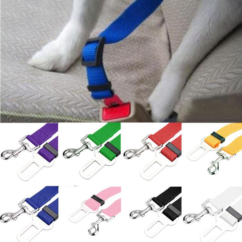 2017 New Qualified Pet Cat Dog Safety Vehicle Car cachorro Seat Belt mascotas dog Seatbelt Harness Lead Clip Levert Dropship 718 цена