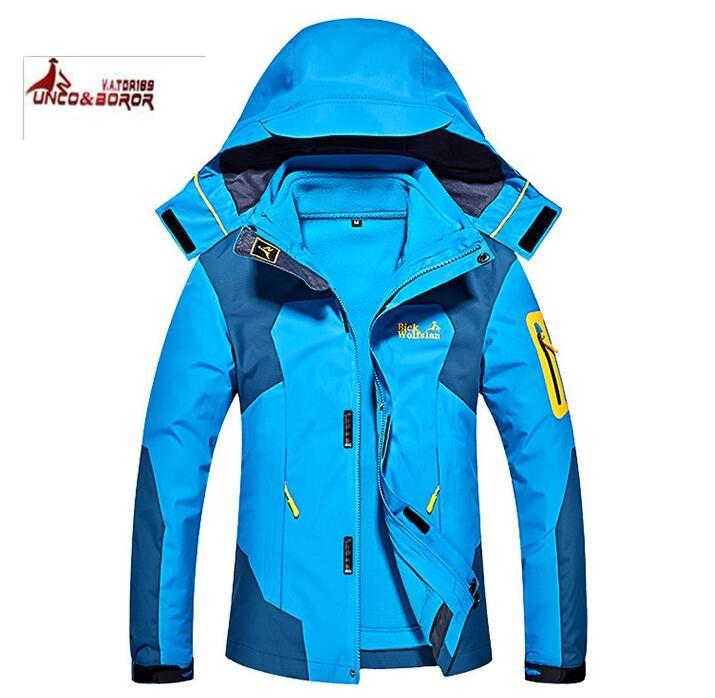 Skiing Jackets 100% True The Arctic Light Womens Winter 2 Pieces Fleece Waterproof Jacket Outdoor Sports Coats Hiking Camping Skiing Female Jackets Skiing & Snowboarding