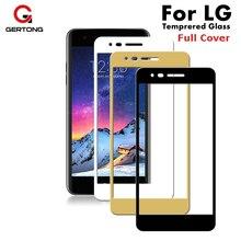GerTong полное покрытие закаленное стекло для LG K8 K10 K7 G6 V20 K 8 10 закаленное защита экрана