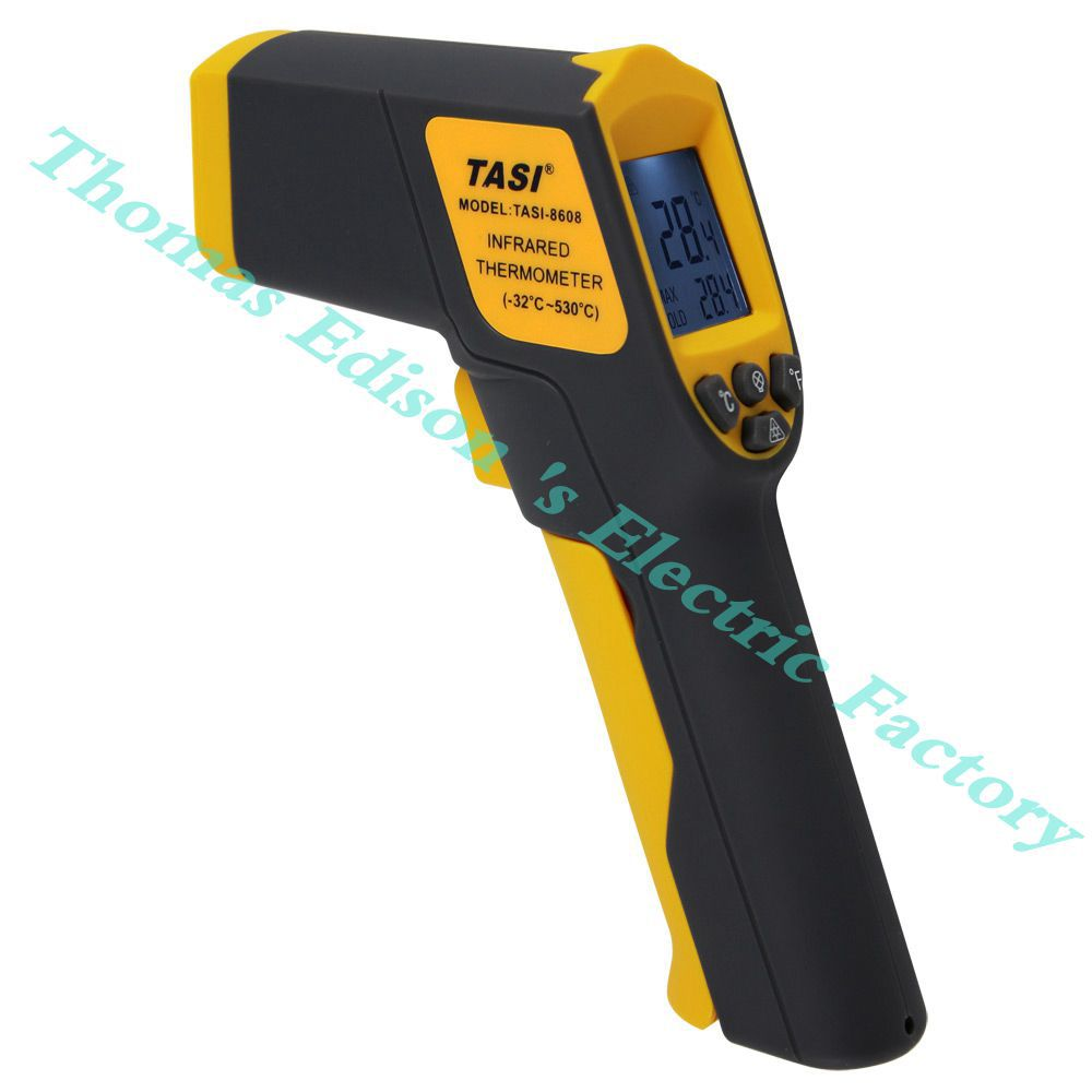 HIgh quality Infrared Thermometer Range -32 ~ 530 Degree C Temperature Unit Selection Industrial Thermometer meter TASI-8608