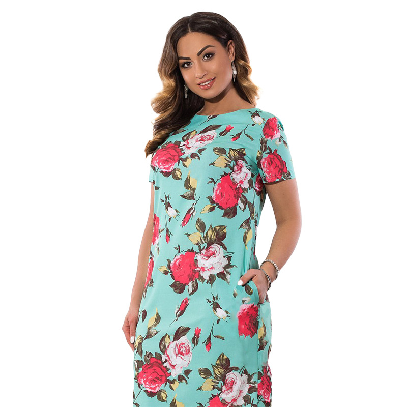 HTB1W8bQXXHFK1JjSZFzq6z23XXa4 2019 Autumn Plus Size Dress Europe Female Fashion Printing Large Sizes Pencil Midi Dress Women's Big Size Clothing 6XL Vestidos