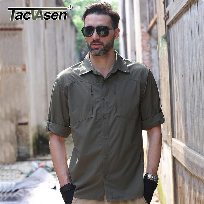 Aliexpress.com : Buy TACVASEN Men Shirt Summer Brand Removable ...
