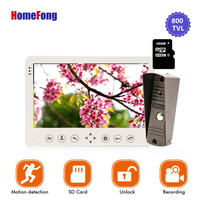 Homefong 7Video Door Intercom Doorbell Phone Wired Visual Intercom Doorbell system Recording Picture/Video Motion Sensor