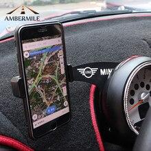 AMBERMILE автомобильный держатель мобильного телефона кронштейн украшения для Mini Cooper Countryman R60 Paceman R61 автомобильные аксессуары для укладки
