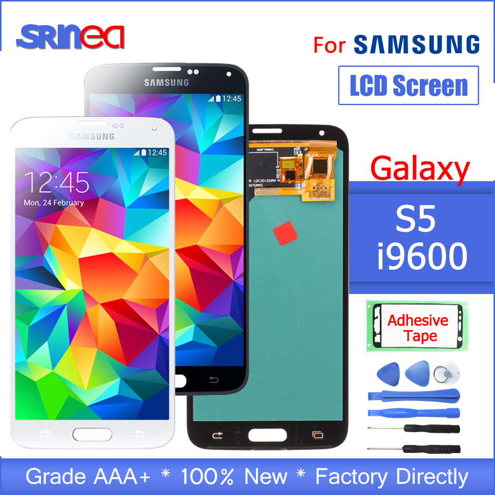 For Samsung Galaxy S5 LCD Display G900 I9600 G900f G900a LCD Screen And Touch Screen Digitizer Assembly With Adhesive Tools-in Mobile Phone LCD Screens from Cellphones & Telecommunications