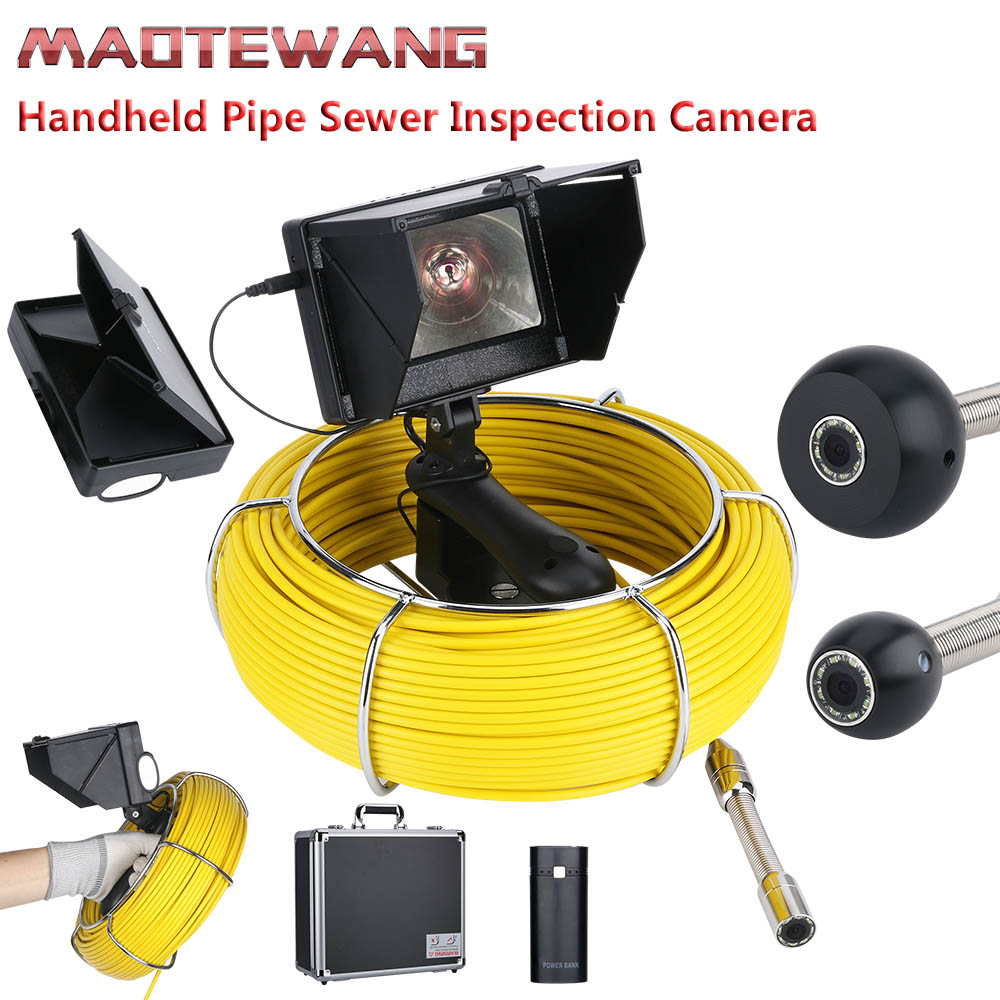 MOUNTAINONE 4 3 inch 17mm Handheld Industrial Pipe Sewer Inspection Video Camera IP68 Waterproof 1000 TVL