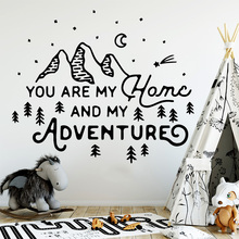 Hot Mountain And Adventures Decorative Wall-Sticker Home Decor For Kids Rooms Decoration Wall Art Sticker Murals