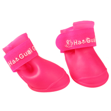 4x Cute Pet Dog Waterproof Boots Protective Rubber Rain Shoes Candy Color