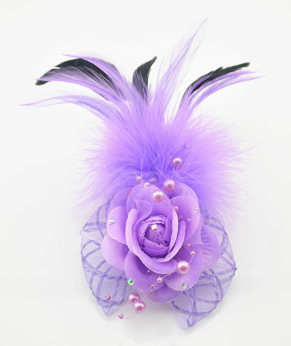 d97ec52116b34 Detail Feedback Questions about 5Color Flower Feather Hair Clip ...