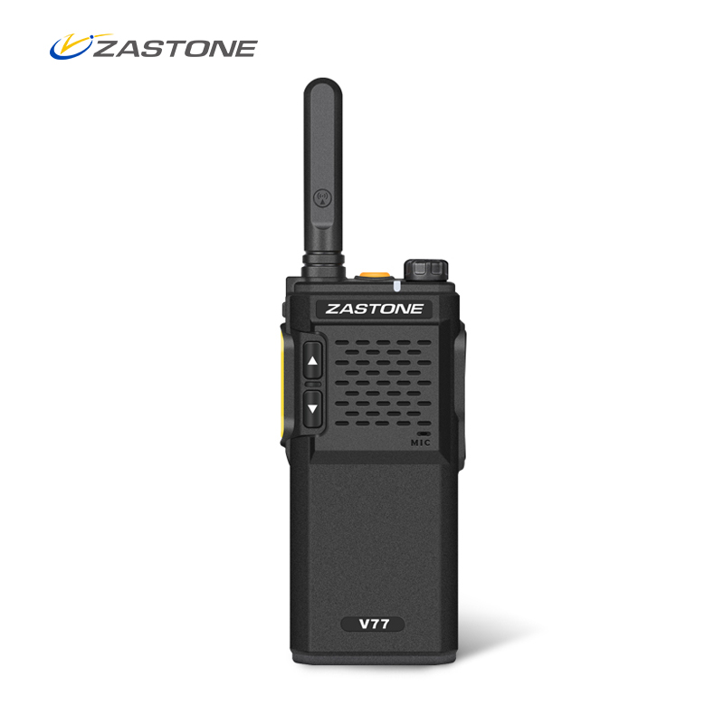 Zastone V77 Mini Portable Walkie Talkie UHF 400-470MHz 1500mAh Battery HF Transceiver Communicator Handheld Two-Way Ham Radio