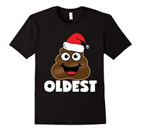 Oldest Kid Poop Emoji Christmas T Shirts Outfit Brand Cotton Men Clothing Male Slim Fit T