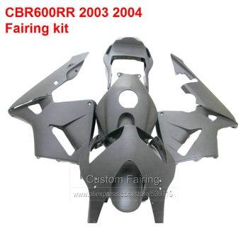 For HONDA  Fairings CBR600RR 03 2003 04 2004 Injection Custom Sticker ( Matte Black ) Fairing Kit HX15
