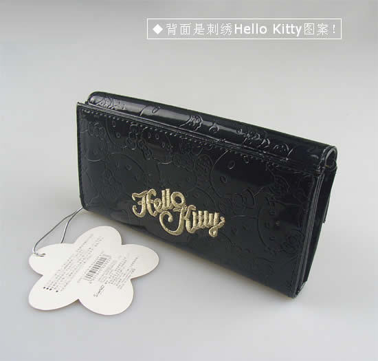 9d5dc277b182a 2016 Hot Selling Hello Kitty Clutch Wallet Black Hasp Wallets Women's  Fashionable Long Wallet PU Leather Purse Woman Money Clips-in Wallets from  Luggage ...