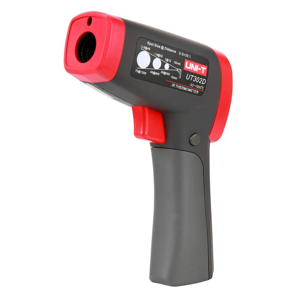 UNI T UT302A UT302C UT302D Infrared Thermometer Digital Meter Non contact Fast Test in Temperature Instruments from Tools