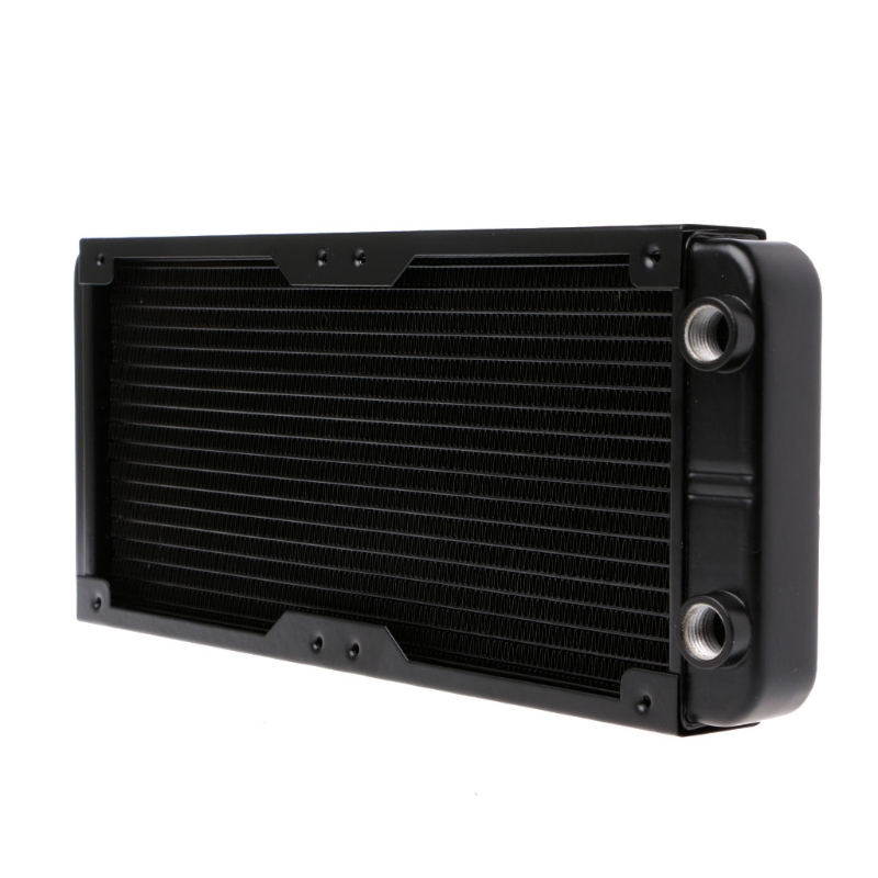 240mm Aluminum Computer Radiator Water Cooling Radiator Water Cooler 18 Tubes Heat Exchanger CPU Heat Sink For Laptop Desktop 1pc new laptop cpu cooler heatsink cooler radiator laptop water cooling fan for pc notebook computer cooling aluminum r360 black
