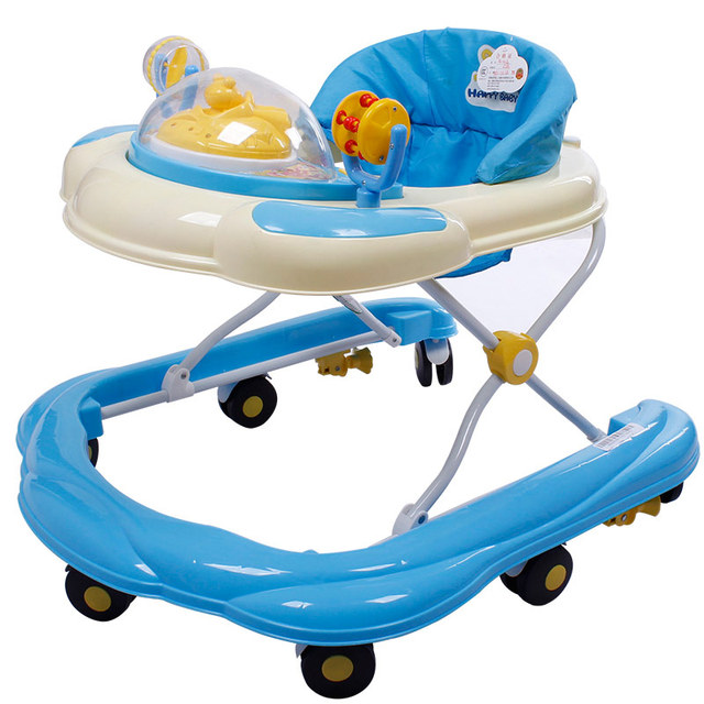 Hot Sale U Type Baby Walker Portable Light Weight Baby Toddler Walker Anti Rollover Folding Easy With Music Toys Plate Scooter