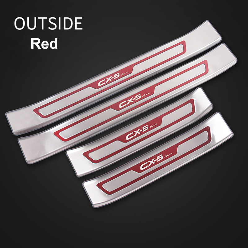 Image 5 - For Mazda CX 5 CX5 2017 2018 2019 Car Door Sill Trim Scuff Plate Welcome Pedal Protector Cover stainless steel enterance Guard-in Chromium Styling from Automobiles & Motorcycles