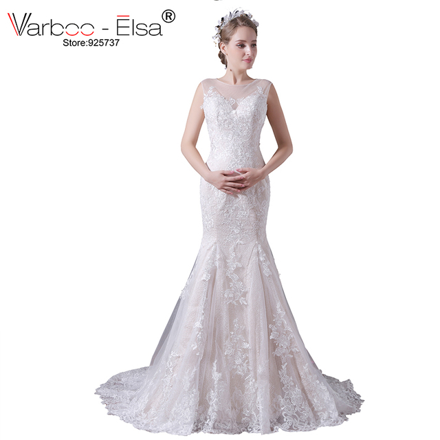 varboo_elsa 2018 sirena vestido de novia vintage beige encaje