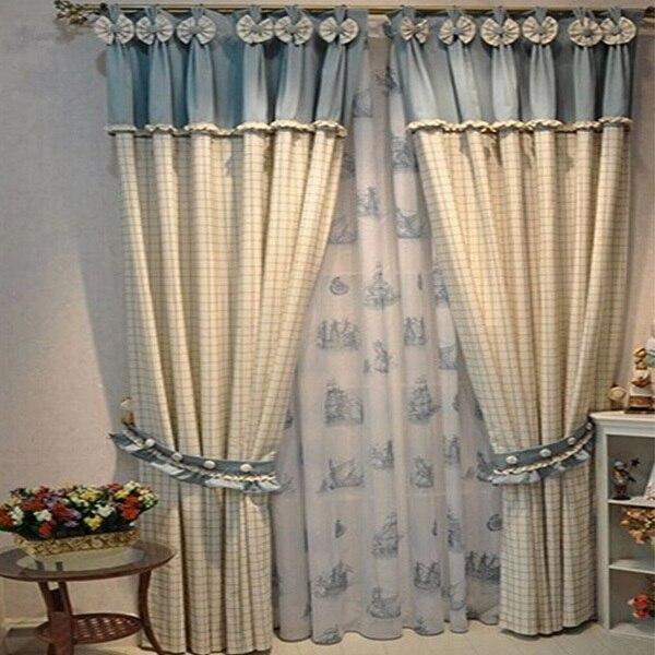 Cortinas párr sala nuevo tejido cortinas para los niños de lujo