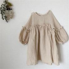 Baby Girls Summer Dresses New 2019 Kids Girl Dress Linen Spring Clothes Ruffles Princess Toddler Clothing G012