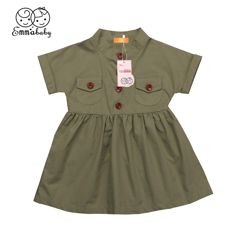 2019 Baby Girl Dress Summer Kid Clothes Button Tutu Dress Casual Outfit Toddler Children Clothing 1-6T2019 Baby Girl Dress Summer Kid Clothes Button Tutu Dress Casual Outfit Toddler Children Clothing 1-6T