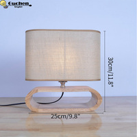 American Table Lamp Vintage Loft Wooden Led Desk Lamp bedside Reading Light Office Lamp Home Lighting Decor Design night lights