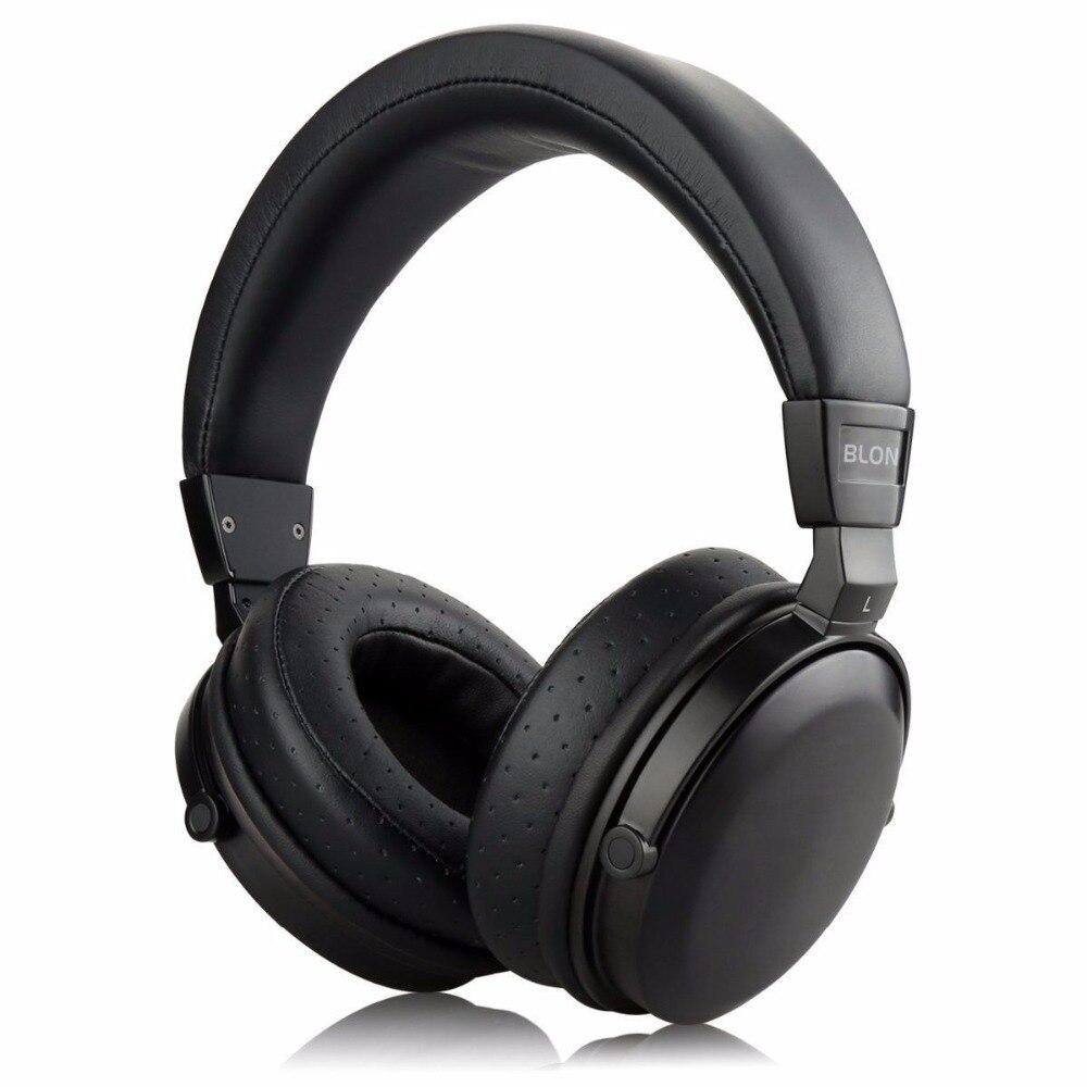 Newest BLON B7S HiFi Music Wooden Headphones 50mm Speaker Noise Cancelling Active Monitor DJ Headset Earphones