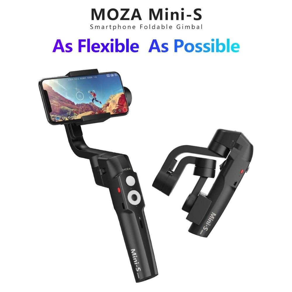 Stabilisateur de cardan portable Moza MINI-S 3 axes pliable de poche pour iphone Gopro Hero 6/5/4 Yi Cam 4 K