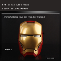 1/1 Scale Life Size Marvel Shield Movie Avengers iron Man 3 Helmet Money Bank Action Figure Toys