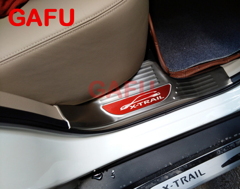 For Nissan X-Trail T32 inside Door Sill Scuff Plate Welcome Pedal Stainless Steel Car Accessories Car Styling 2017 2018