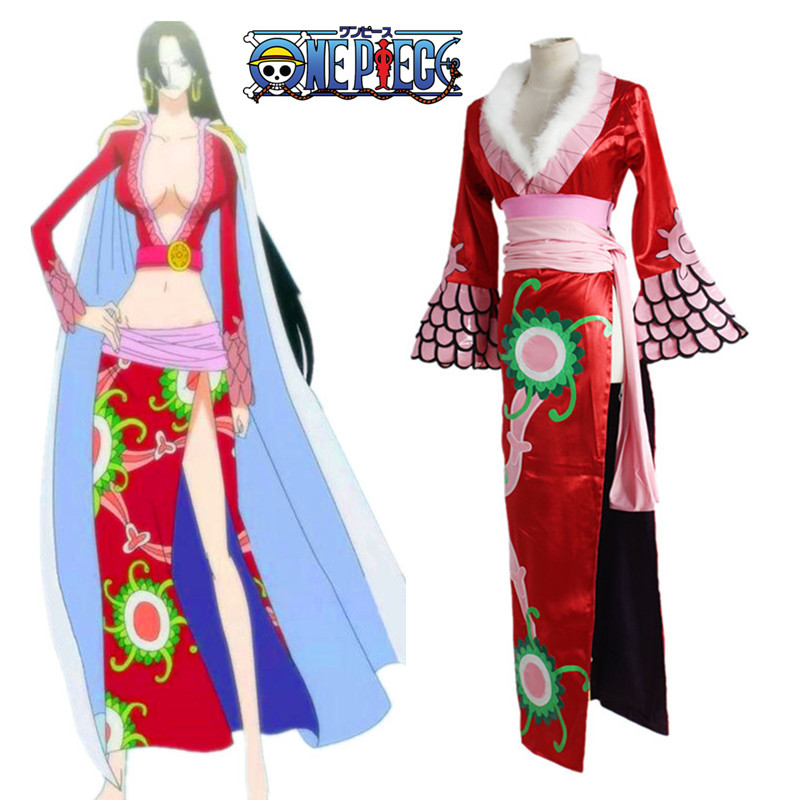 Anime One Piece Cosplay Costume Boa Hancock Kimono Snake Pirate Empress Cheongsam Dress Cloak Halloween Party Dress Capes