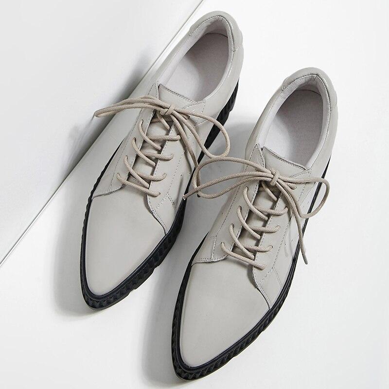 Appartements forme Cuir Designer Dentelle De Plate Chaussures Respirant Verni Tenir gray Marque Black Nouveau Femelle Printemps Oxfords Femmes Confortable Derbies En up pw0xBw8q