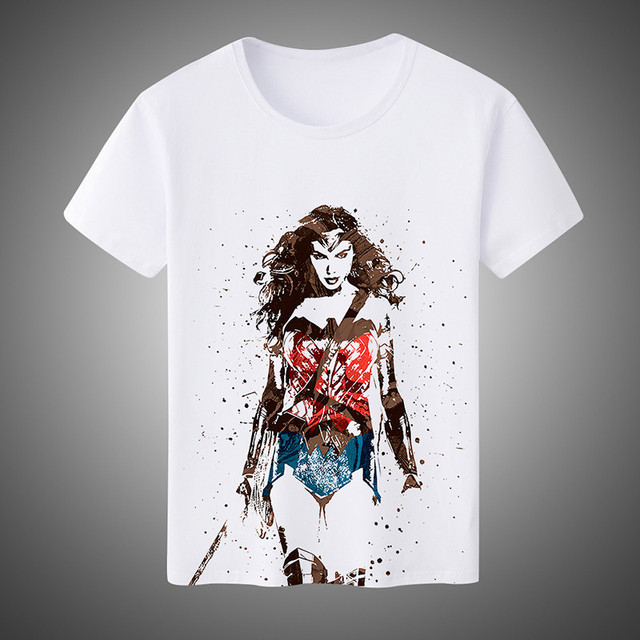 f97055b8 Summer Fashion Men's/Women's T-shirts Super Hero Wonder Woman Cosplay  Costumes Unisex Short-Sleeved Tees Plus Size