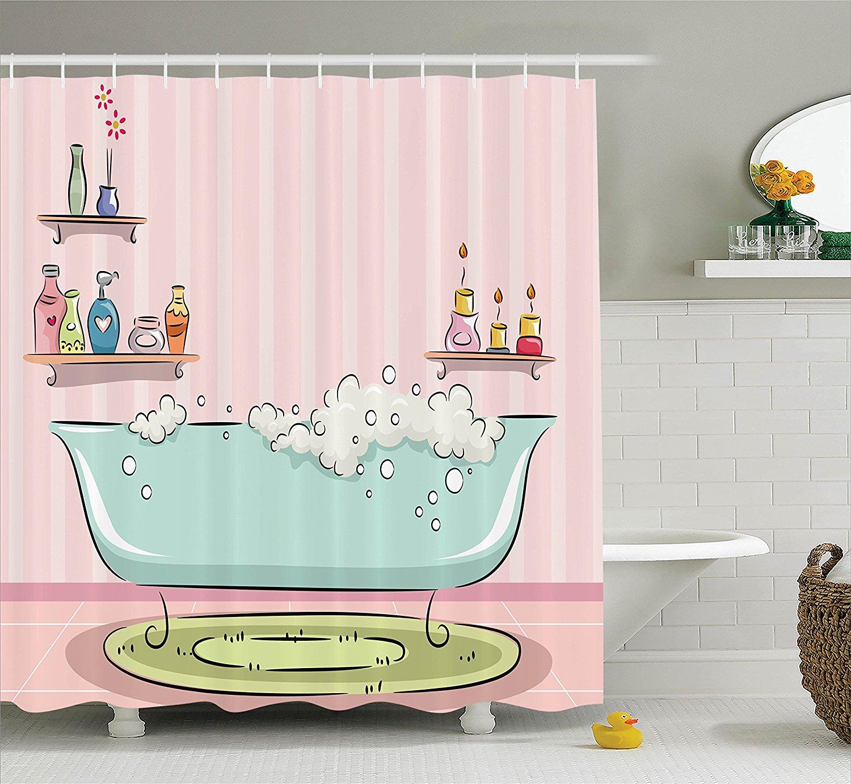 teens girls women decor Collection Illustration of Bathtub with ...