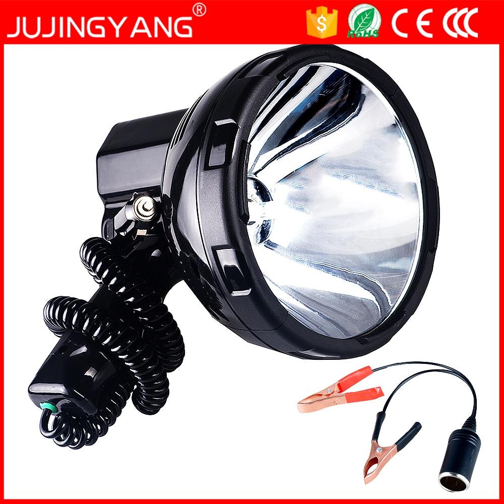 ФОТО High power xenon lamp outdoor handheld hunting fishing patrol vehicle 220W h3 HID searchlights 160W hernia spotlight 12v
