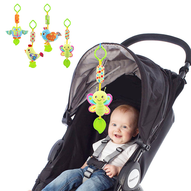 baby toys for newborns hanging bell rattles with teether baby mobile toys 0-12 months baby car seat hanging bell rattles