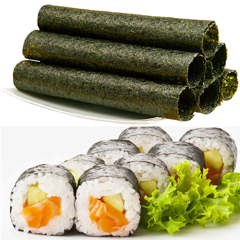 50-100 шт. в наборе, высококачественные суши нори, морские водоросли, закуски для суши, зеленые пищевые водоросли, сушеные суши нори, оптовая продажа-0